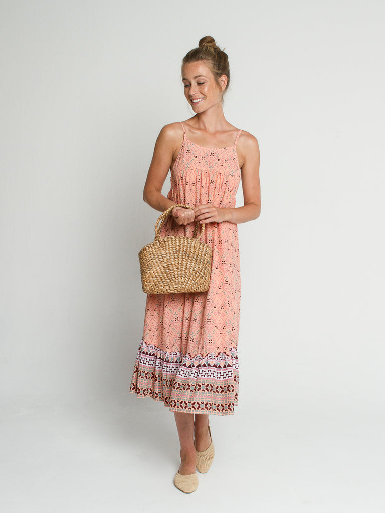 Isla dress in Coral print