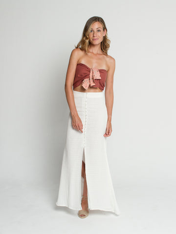 Isla skirt in ivory screen
