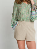 Lauren short Natural linen