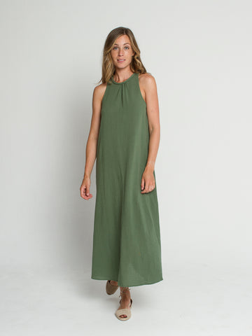 Nusa dress in Basil