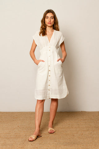 Carla dress in Off white