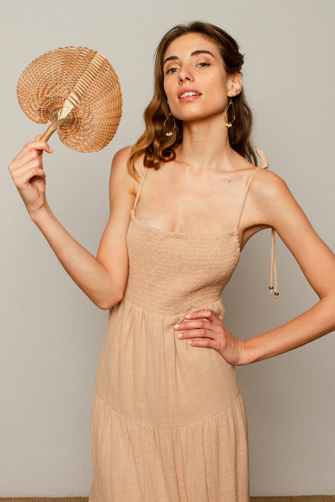 Helena dress in Nude