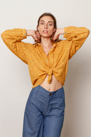 Sofia blouse in Mustard