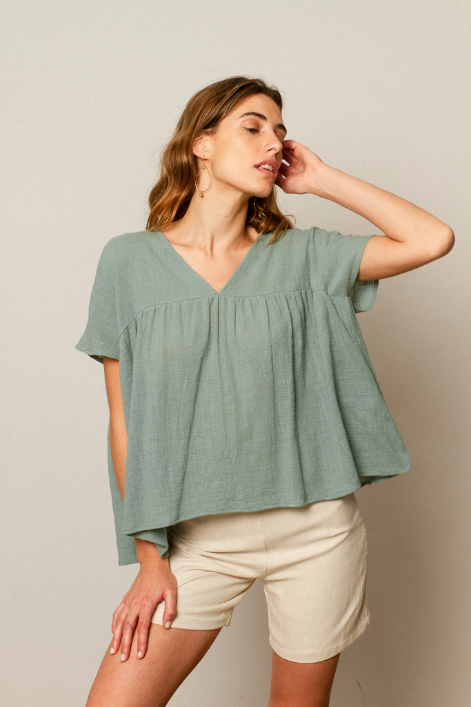 Luna blouse in Aqua