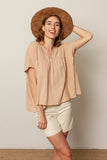 Luna blouse in Nude