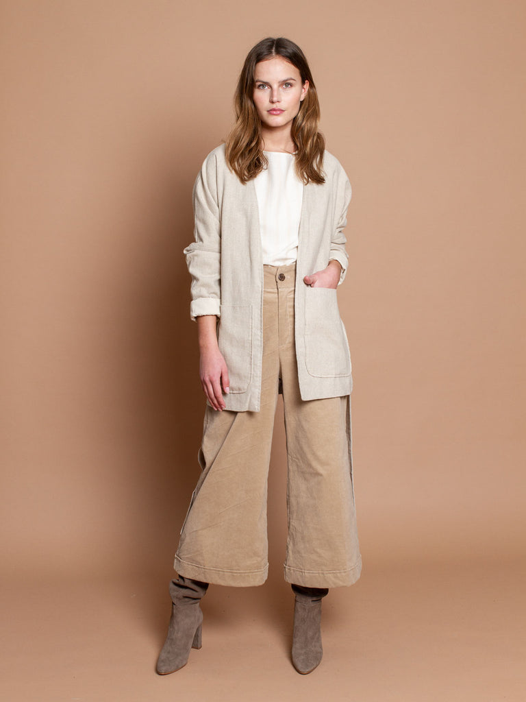 Lena blazer in natural linen