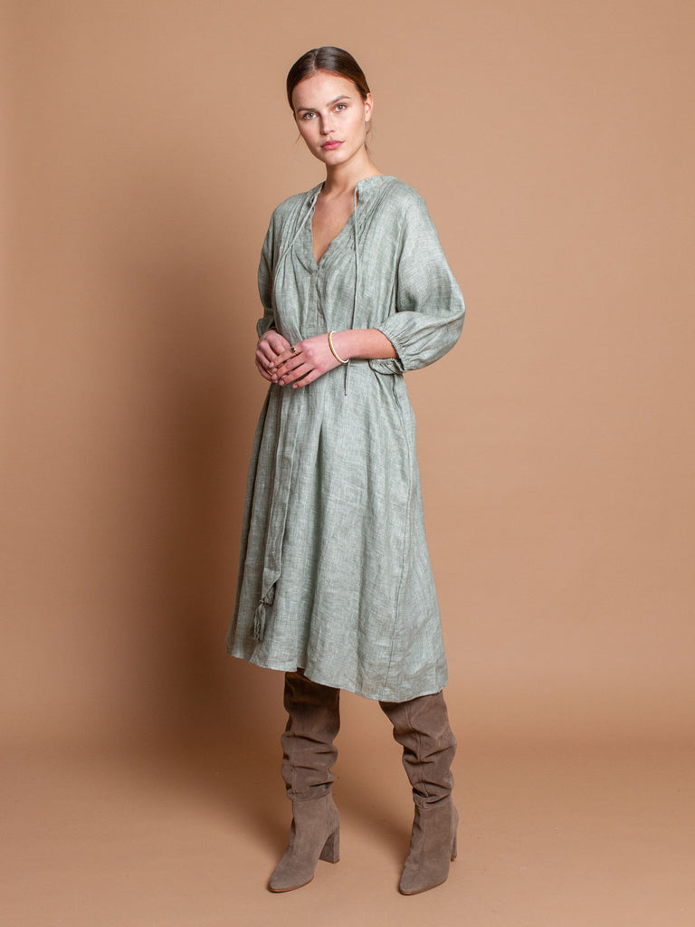 Gypset dress in Aqua linen