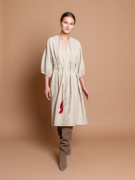 Gypset dress in natural linen