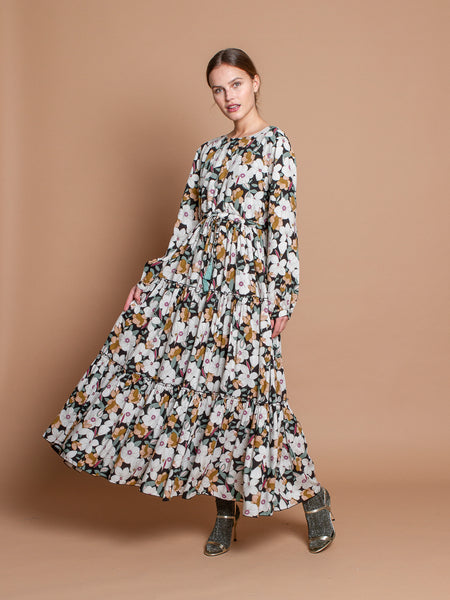 Bianca dress in Folk print