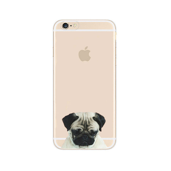 coque de protection bouledogue pour iphones