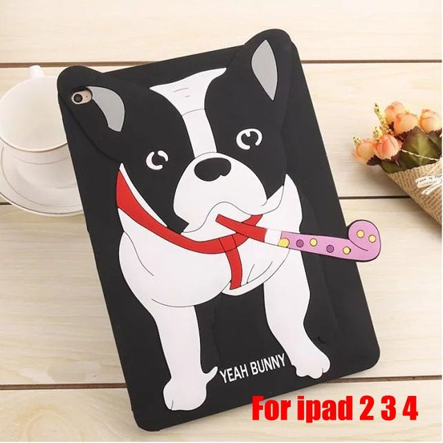 Coque protection Ipad bouledogue
