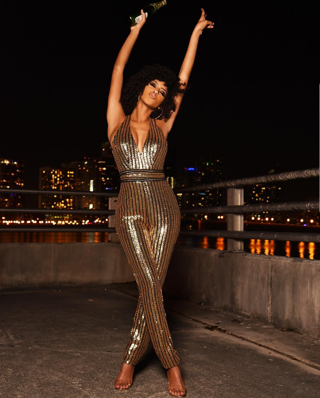 Glow for Gold sequin jumpsuit
