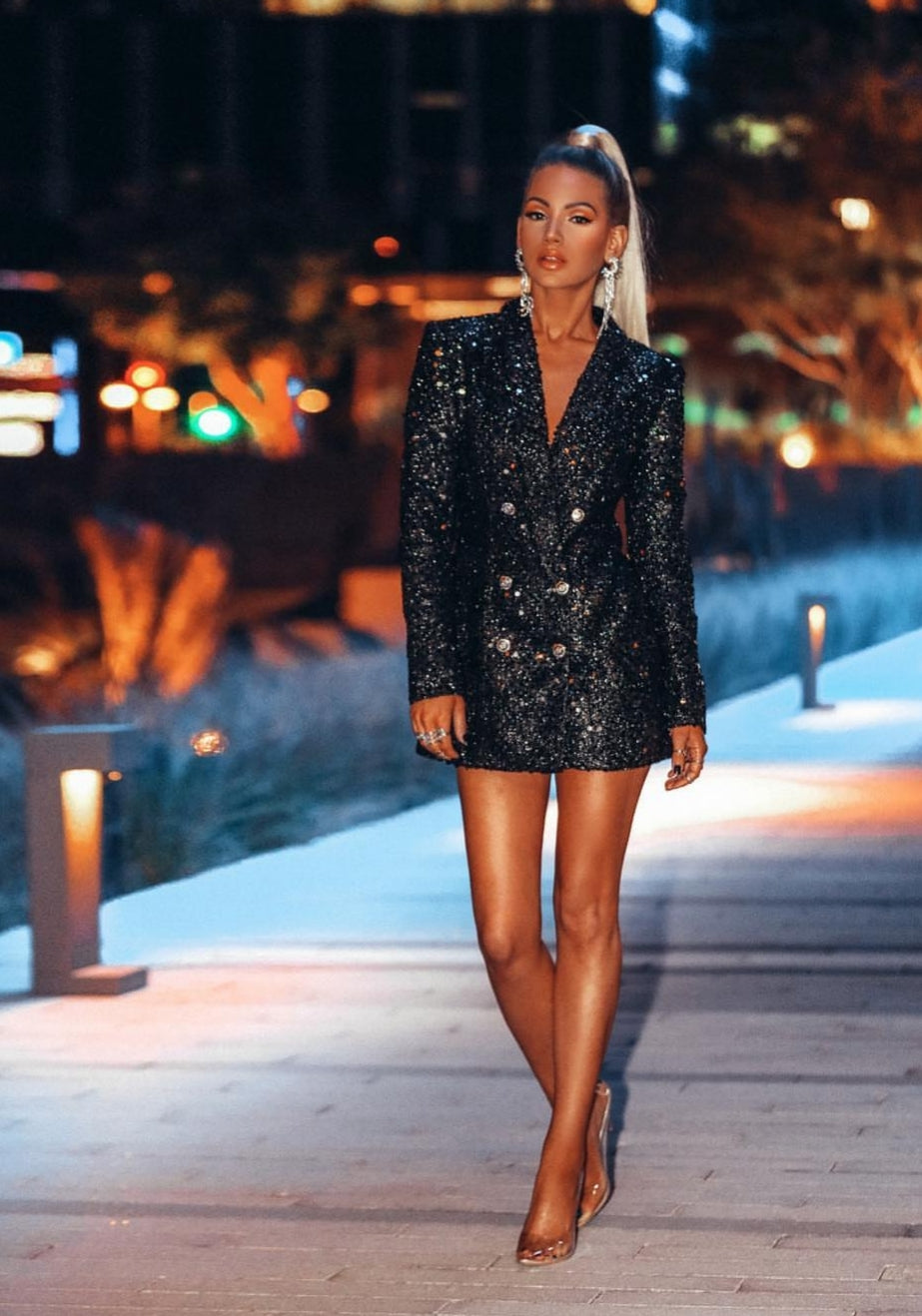 Sequins Blazer Mini Dress