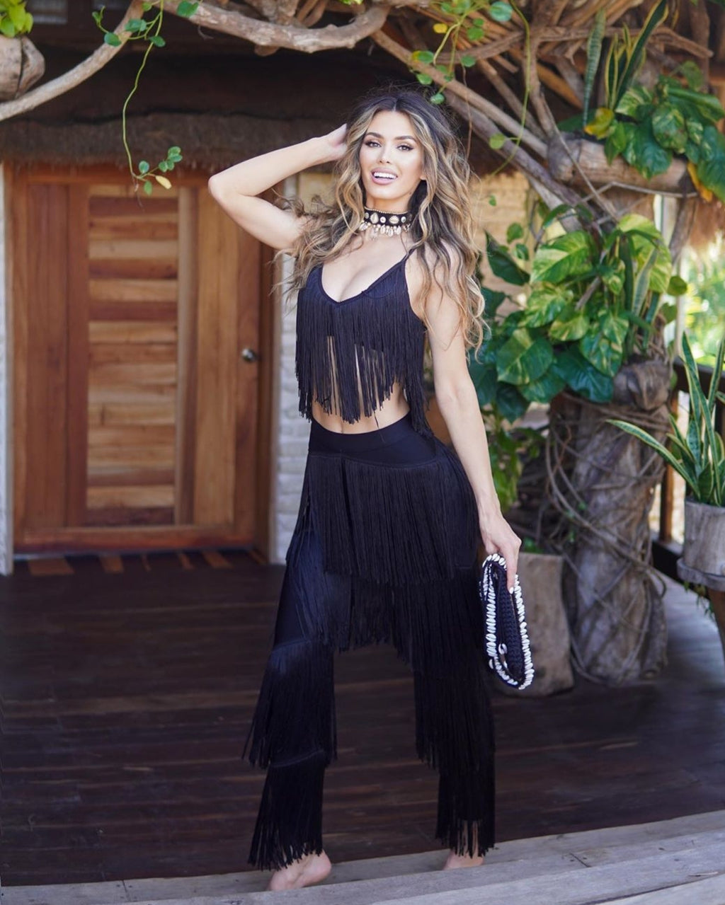 Senorita 2 piece fringe set