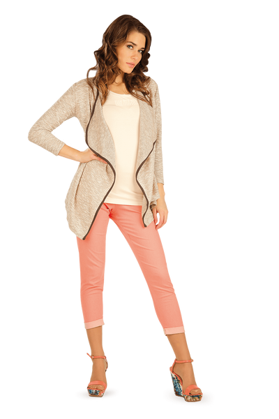 Cardigan With 3/4 Sleeves