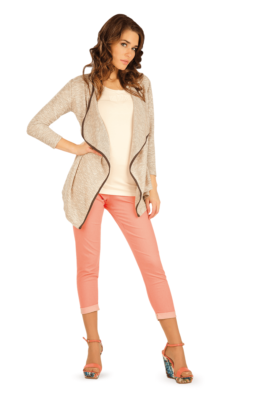 Cardigan With 3/4 Sleeves - onelike