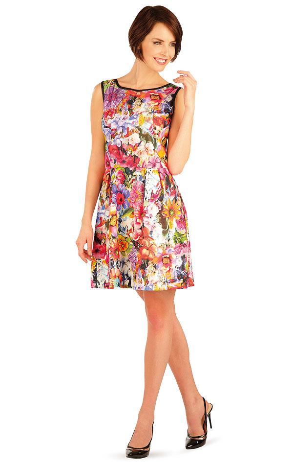Sleeveless Dress With Floral Print - onelike