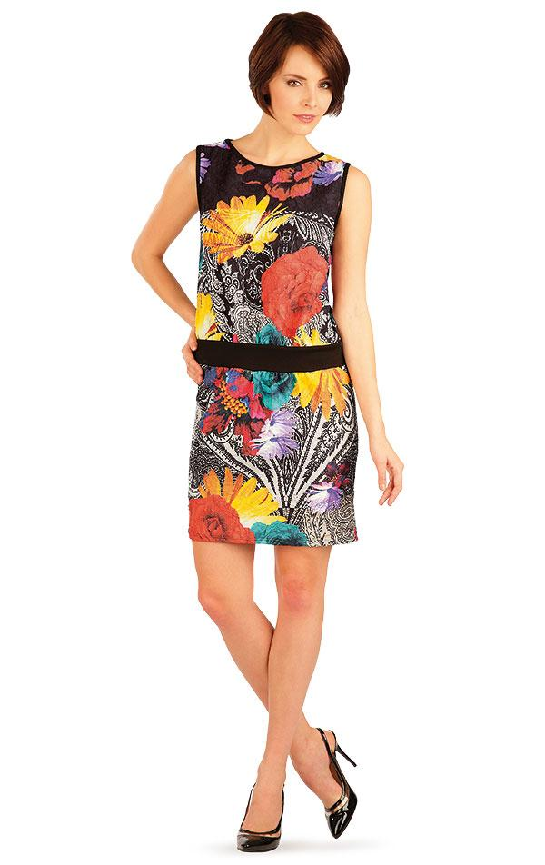 Sleeveless Dress With Flowers - onelike