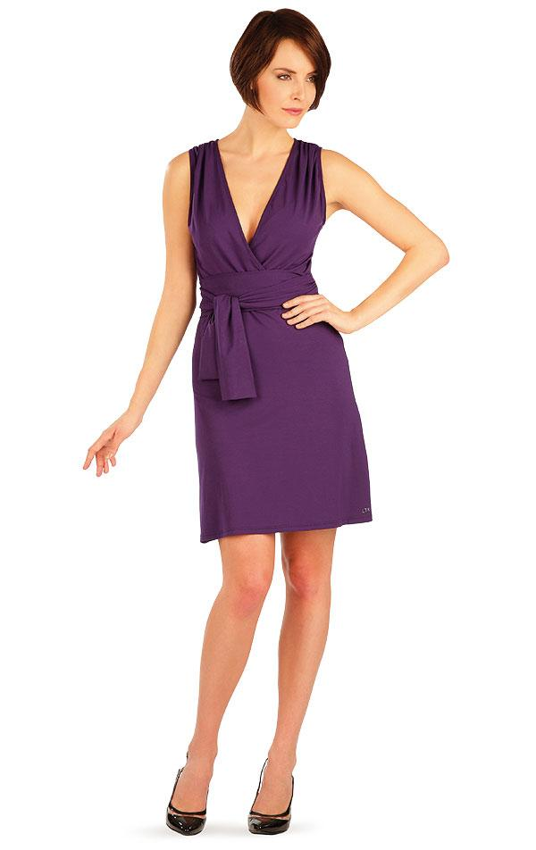 Sleeveless Purple Dress - onelike