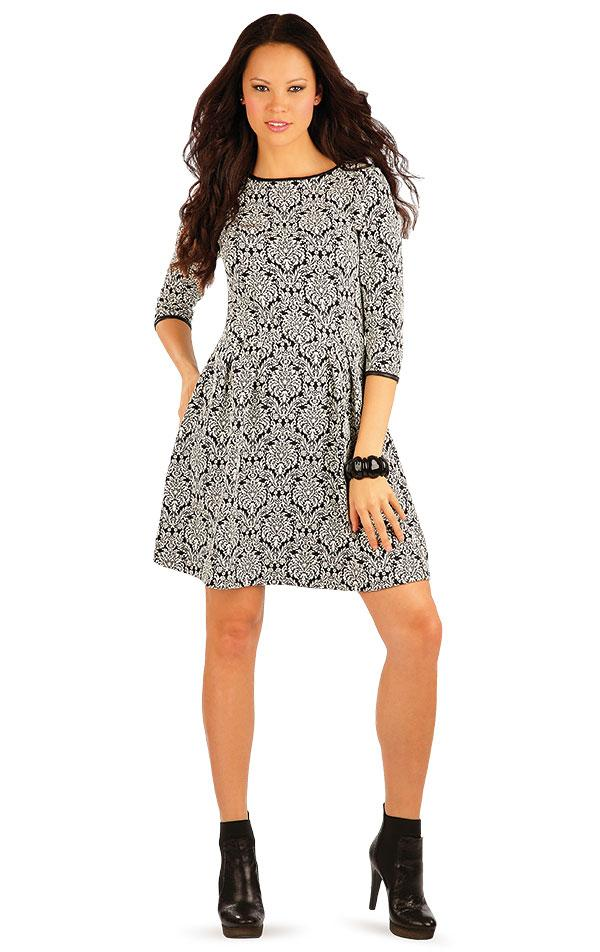 Women's Dress With Monochrome Pattern - onelike