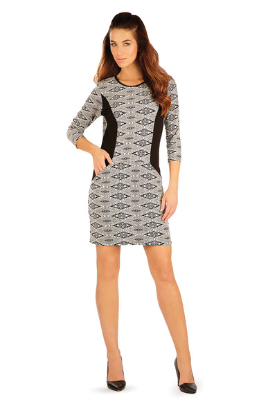 Women's Monochrome Knit Dress