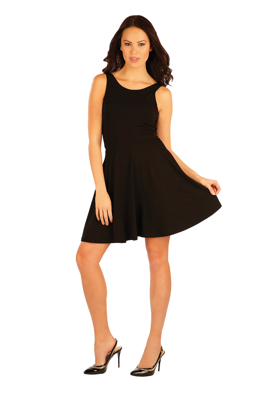 Women's Sleeveless Black Dress - onelike