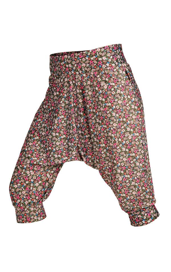 Drop Crotch Pants Flower Print