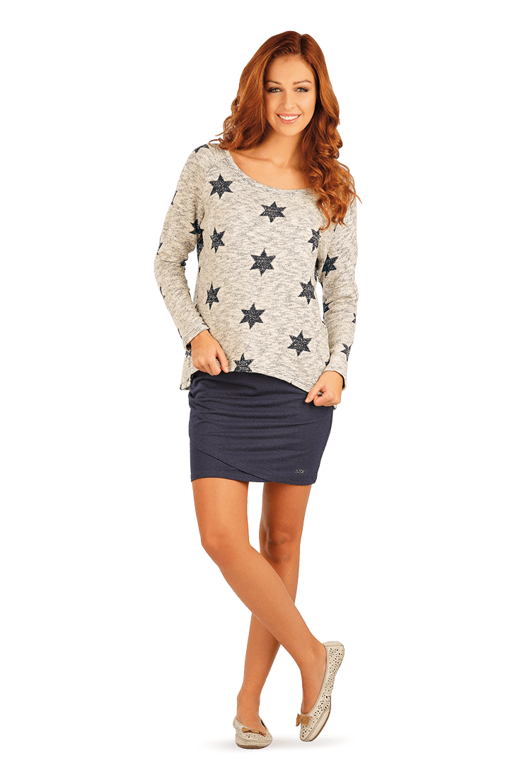 Women's Blue Stars Jumper - onelike