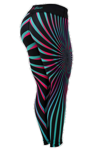 Vortex Teal-Pink Leggings - onelike