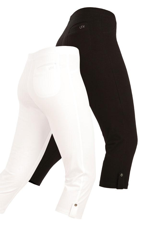 Women's 3/4 Length Leggings With Faux Fly
