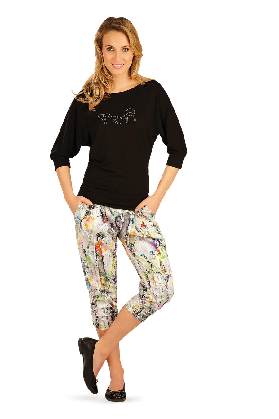 Colourful 3/4 Length Pants