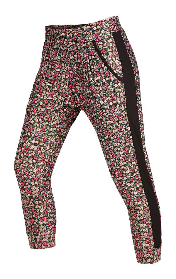 Women's 7/8 Length Drop Crotch Pants Flowers