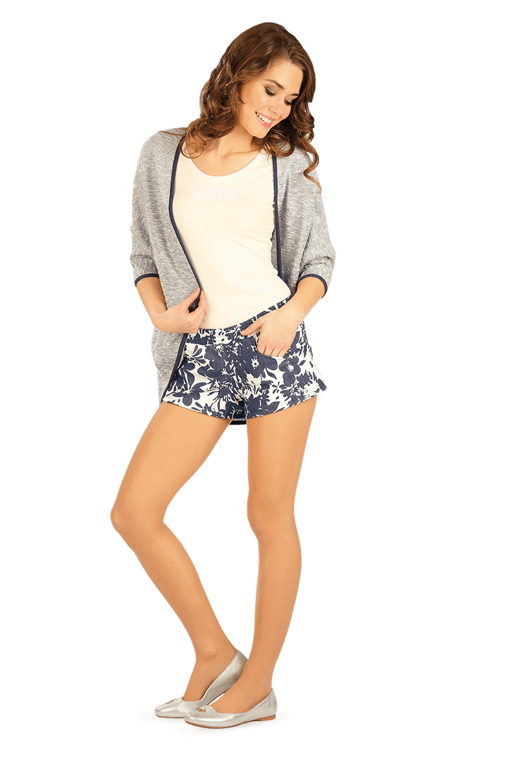 Blue Flower Shorts - onelike