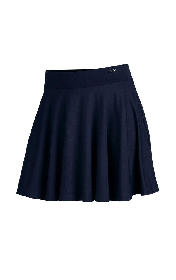 Dark Blue Circle Skirt - onelike