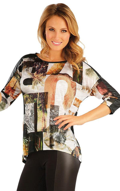 Women's Printed Tee with 3/4 Sleeve