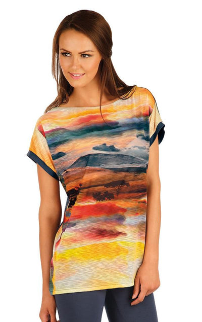 Women's T-Shirt With Landscape Print - onelike