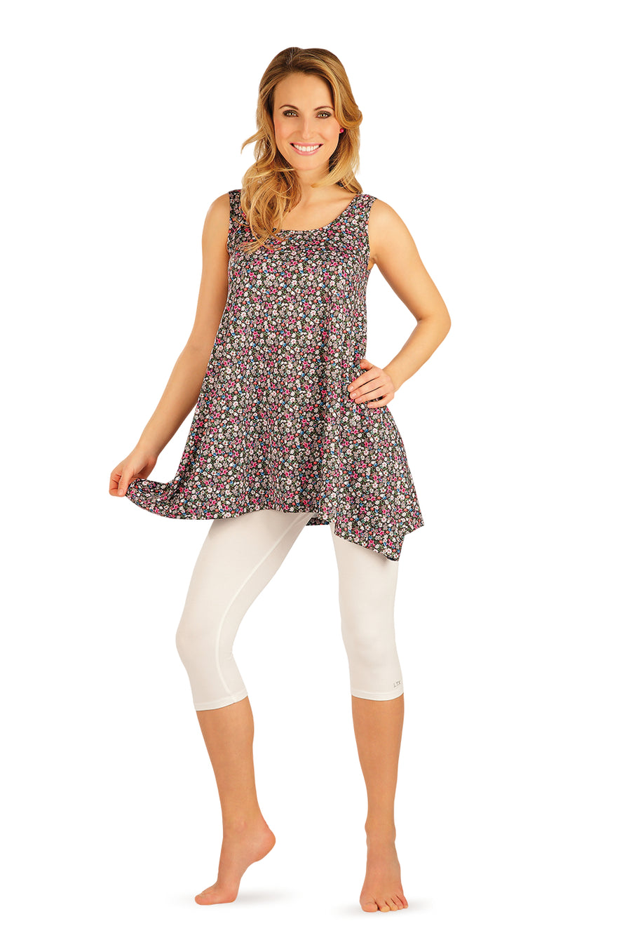 Sleeveless Floral Print Tunic - onelike