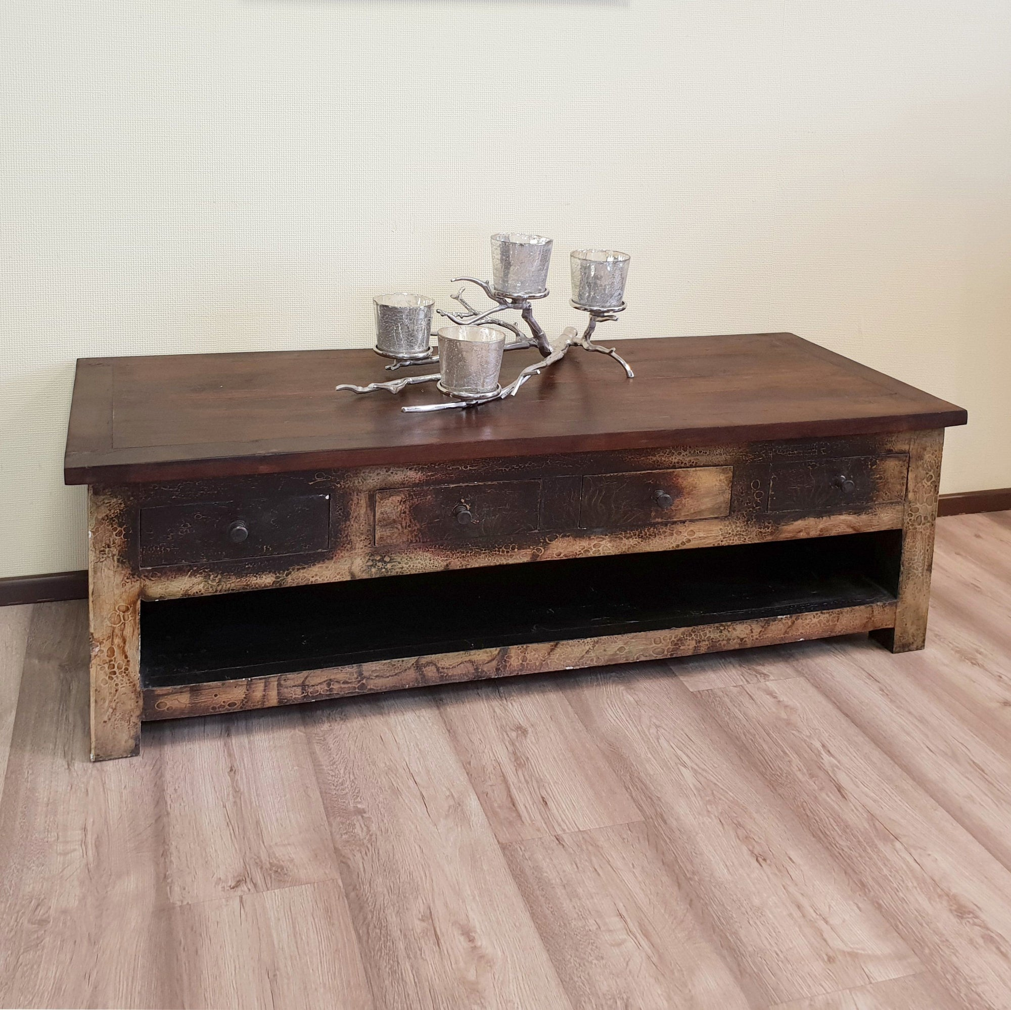 Sideboard, TV-Board, Teak, Indien, Antik