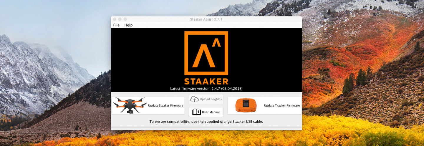 Update your Staaker drone to ensure the best user experience