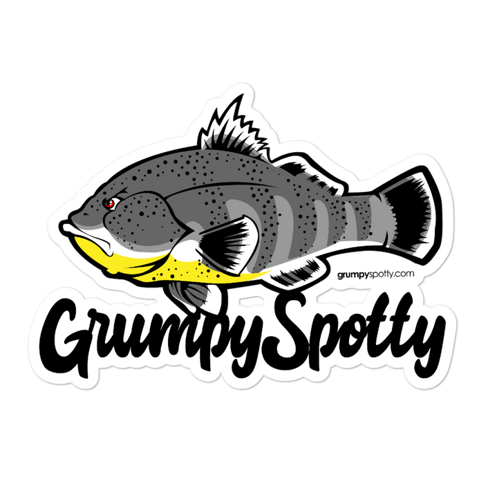 GRUMPY SPOTTY STICKER (Color)
