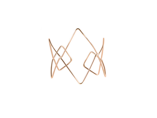 Rose Gold Elodie Geometrical Open Cuff