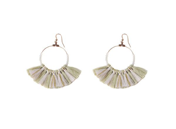 Elise Large Tassel Earrings
