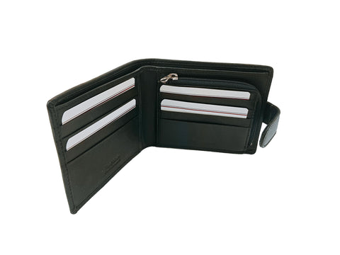 Rowallan Harvard Black Tabbed Wallet