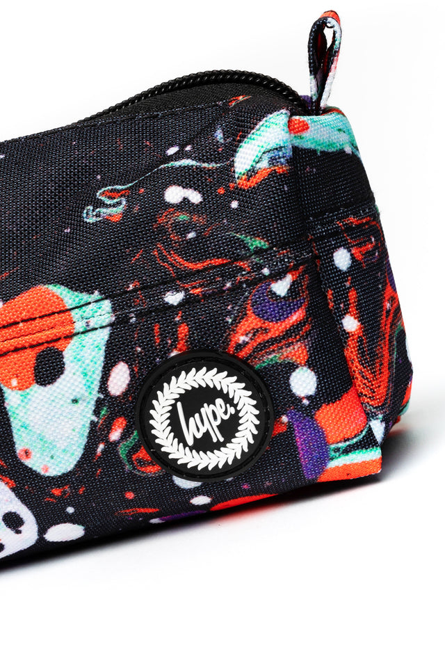 HYPE RED MARBLE PENCIL CASE