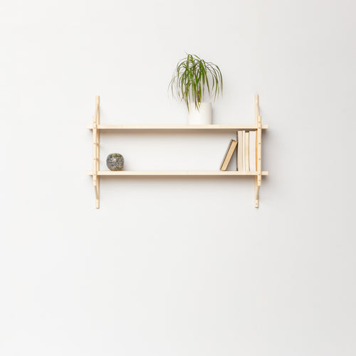MIMA Shelving 2 shelf set with books