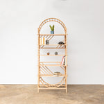 arched freestanding wooden ladder shelving by John Eadon single unit set