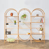 arched freestanding wooden ladder shelving by John Eadon triple unit set