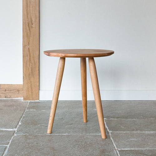 Three leg Elm side table