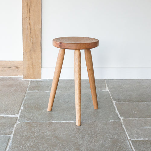 Elm Stool with hand carved texture seat