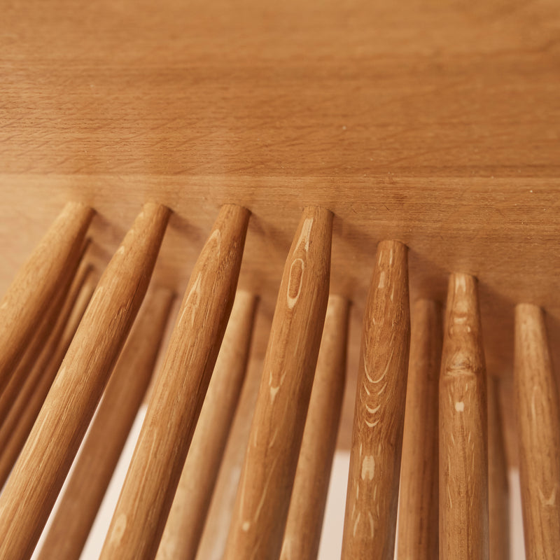 underside of table top showing spindles